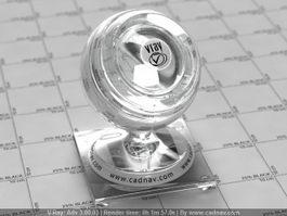 Medium Flint Glass vray material