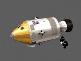 Apollo Command and Service Module 3d preview