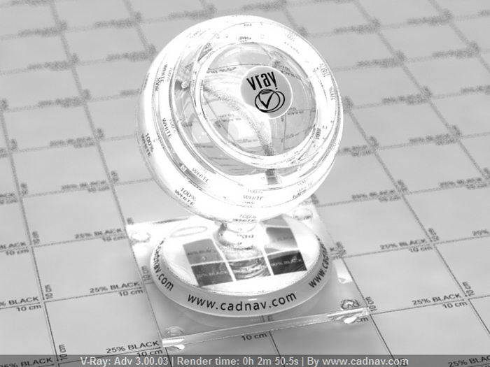 Glass Regular Caustic material rendering