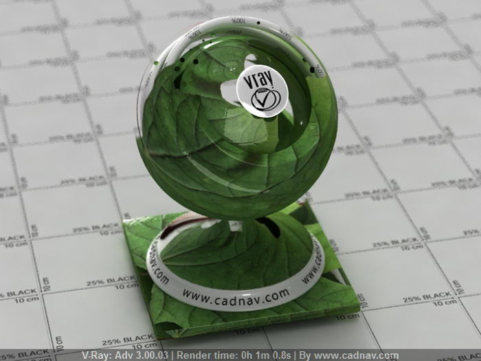Green Leaves material rendering