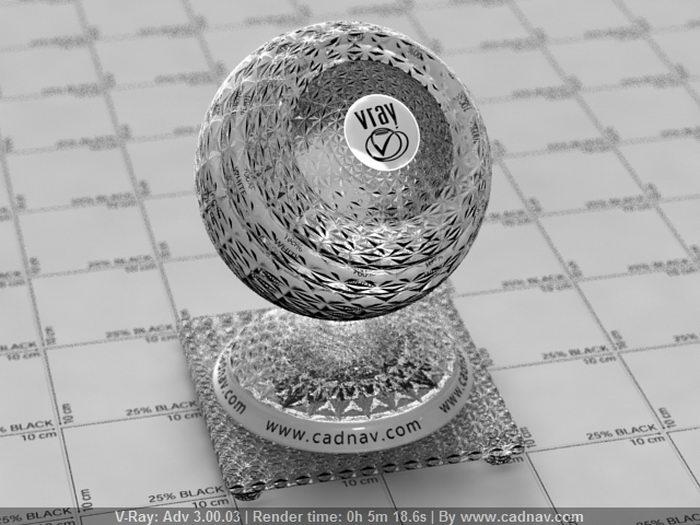 Grid Embossed Glass material rendering