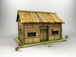 Antique Log Cabin 3d preview