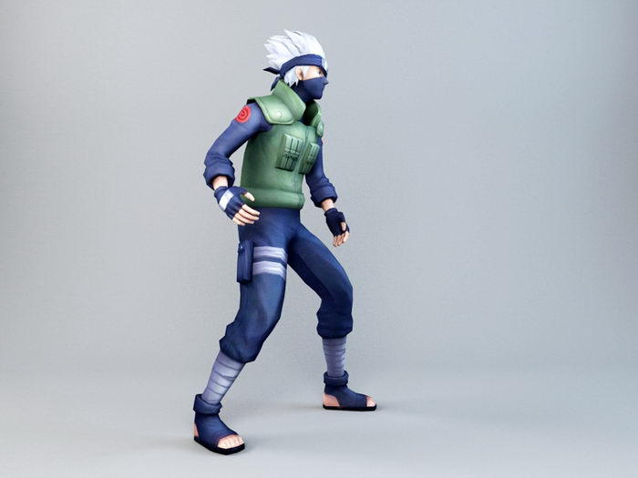 Kakashi Hatake 3d rendering