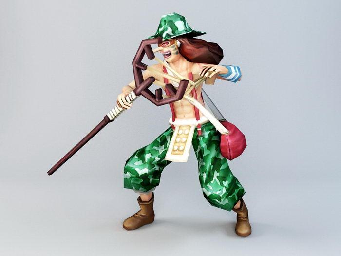 One Piece Usopp 3d rendering