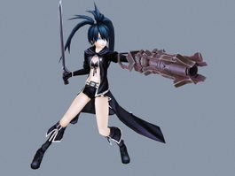 Black Rock Shooter Anime Character 3d preview