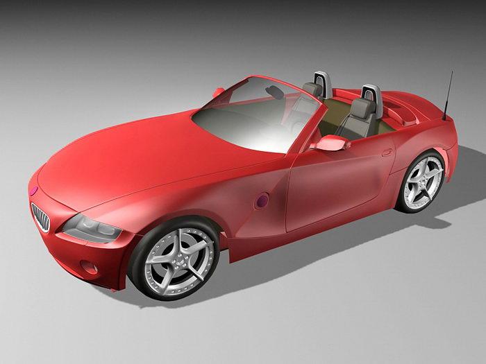 BMW Z4 E89 Roadster 3d rendering