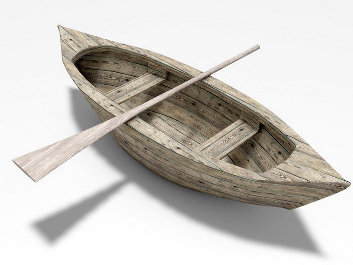 Old Row Boat 3d rendering