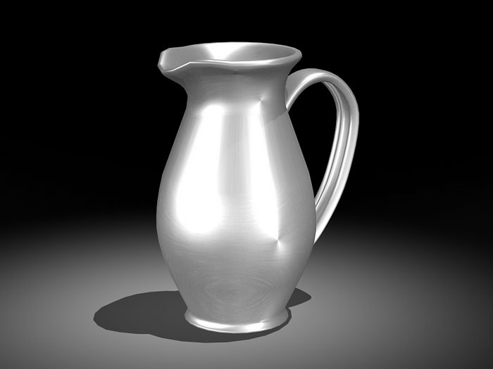 Milk Pot 3d rendering