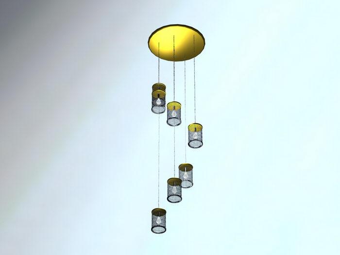 Pendant Hanging Lamp 3d rendering