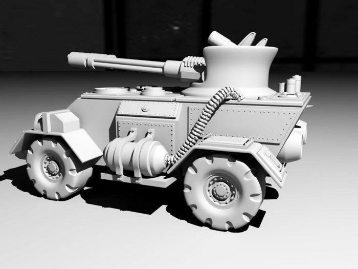 Robotic Combat Vehicle 3d rendering