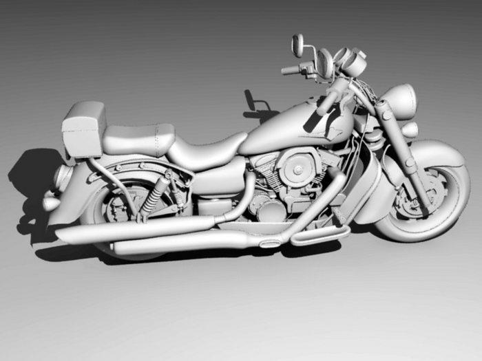 Large Motorcycle 3d rendering