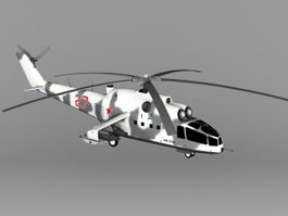 Mi-24A Soviet Attack Helicopter 3d preview