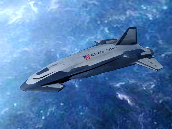 American Space Shuttle 3d rendering