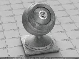 Oxidation Aluminum Metal vray material