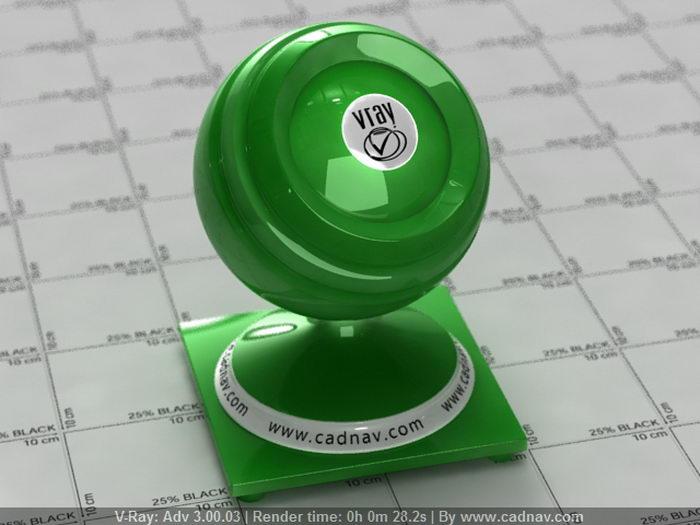 Plastic SSS Green material rendering