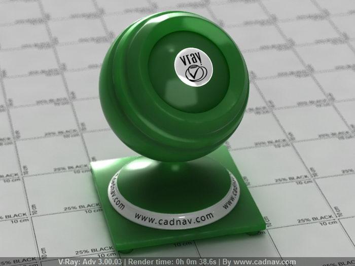 Jade Green Paint material rendering