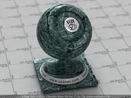 Dark Green Marble vray material