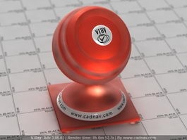 Plastic SSS Red vray material