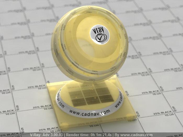 Yellow Lampshade material rendering