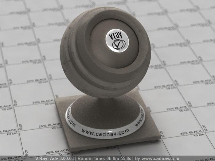 Brown Lamp Shade material rendering