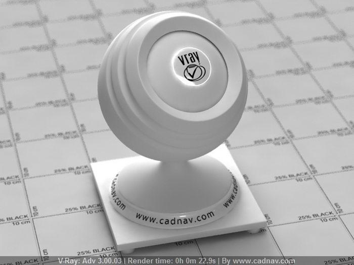 White Plaster material rendering