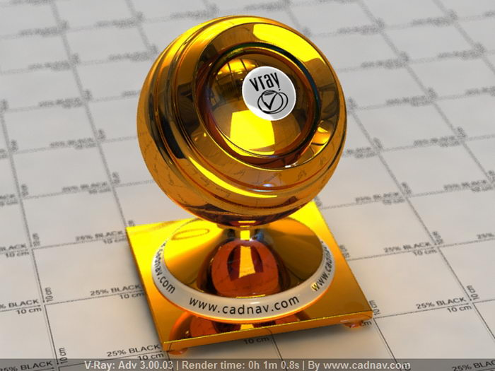 Metallic Gold material rendering