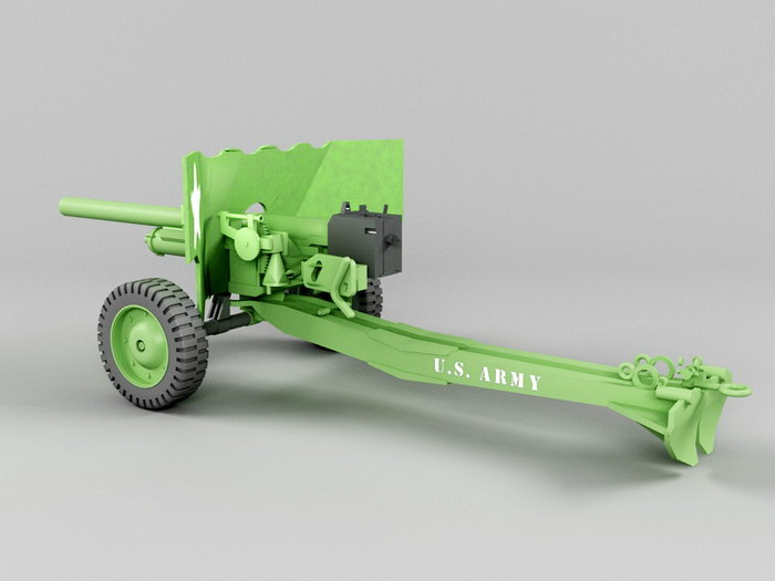 6 Lb Cannon 3d rendering