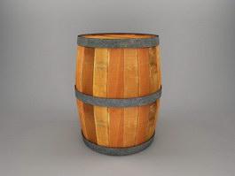Old Wood Barrel 3d preview