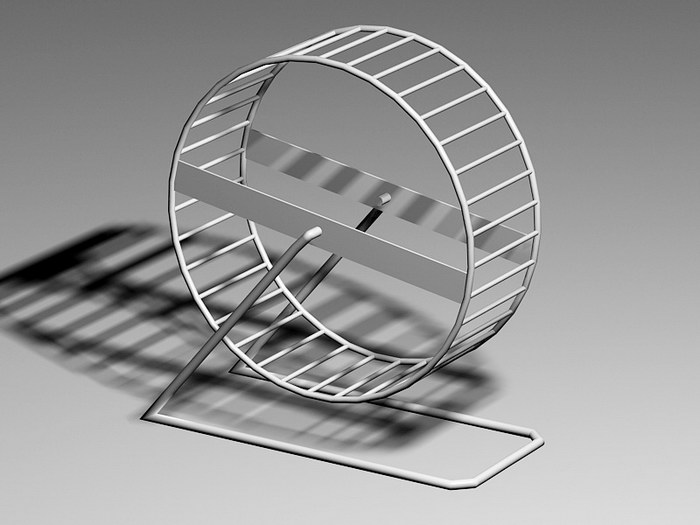 Animated Hamster Wheel 3d rendering