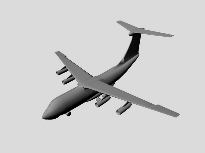 IL-76 Airplane 3d rendering