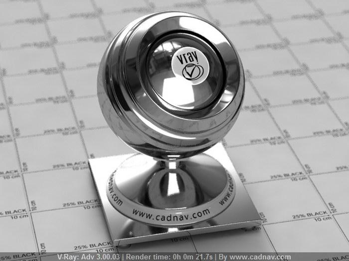 Glossy Silverware material rendering