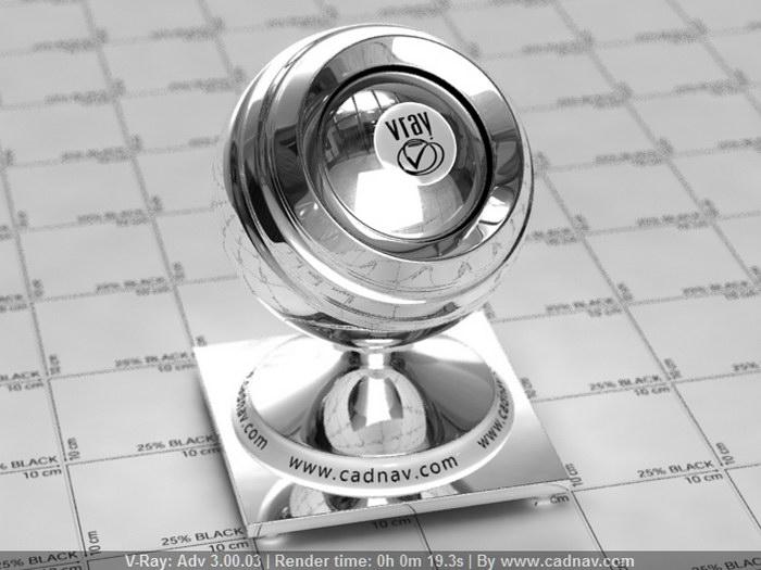 Silver Mirror material rendering