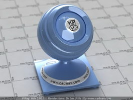 Polished Plastic Baby Blue vray material