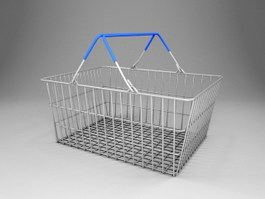 Supermarket Basket 3d preview