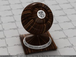 Dark Walnut Wood vray material