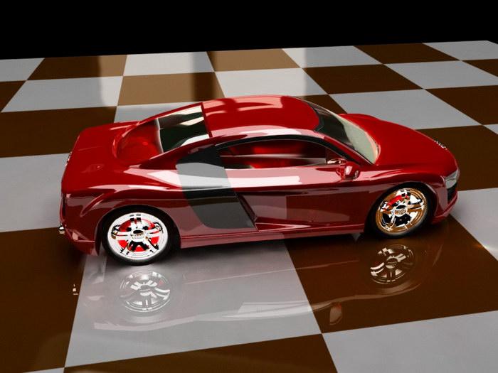 Audi R8 Automobile 3d rendering