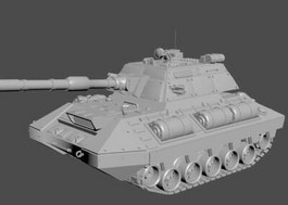 Rhino Tank 3d rendering