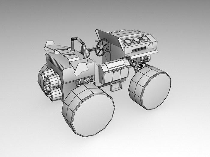 Race ATV 3d rendering