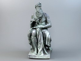Moses Bronze Sculpture 3d preview