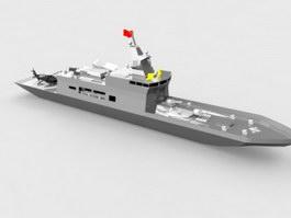 Navy Battleship 3d preview