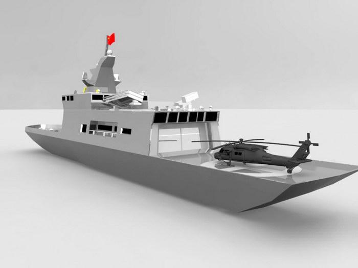 Navy Battleship 3d rendering