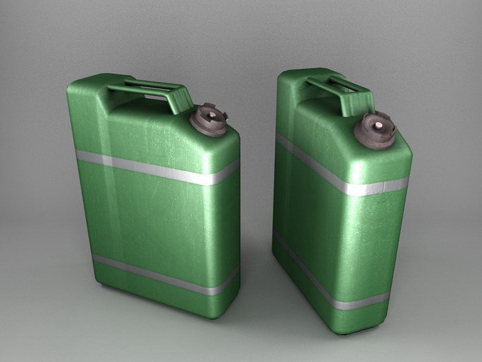 Green Gas Can 3d rendering