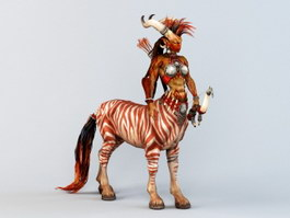 Female Centaur 3d preview