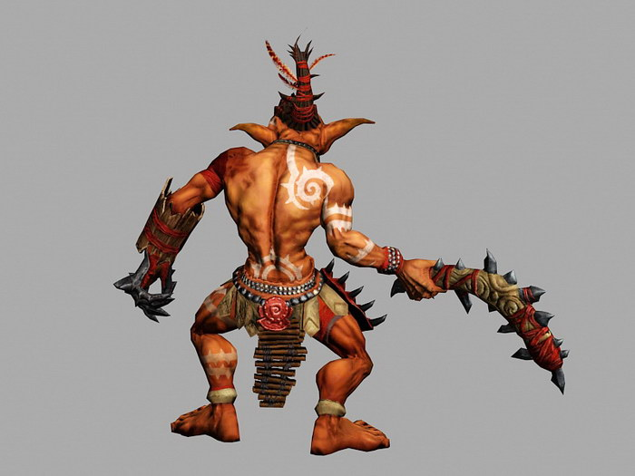 Goblin King 3d rendering