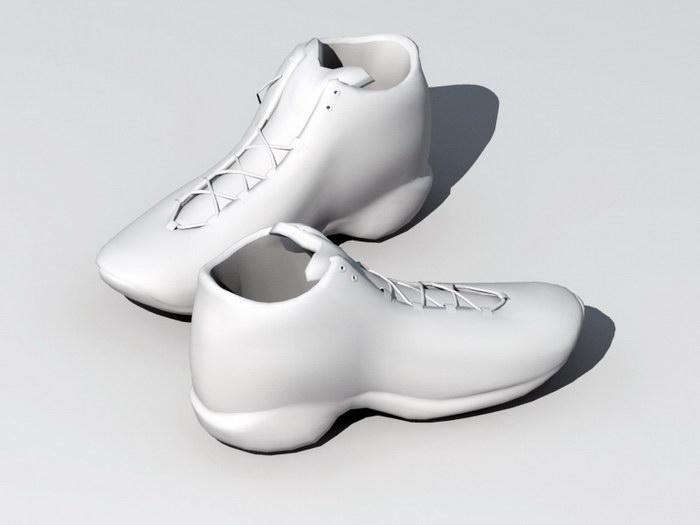 Casual Sneaker Shoes 3d rendering
