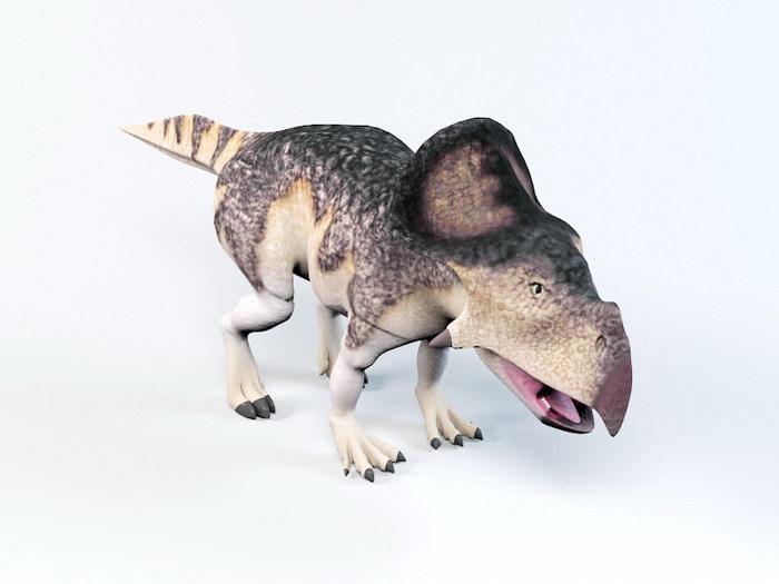 Protoceratops Ceratopsia Dinosaur Rig 3d rendering