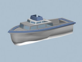 Small Motor Yacht 3d preview