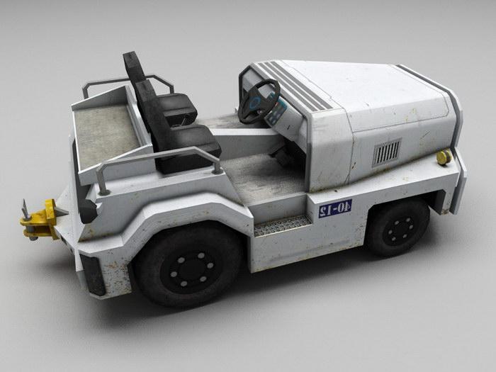 Tow Tractor 3d rendering