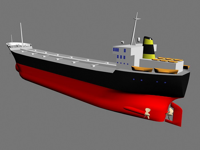 Oil Tanker Ship 3d rendering