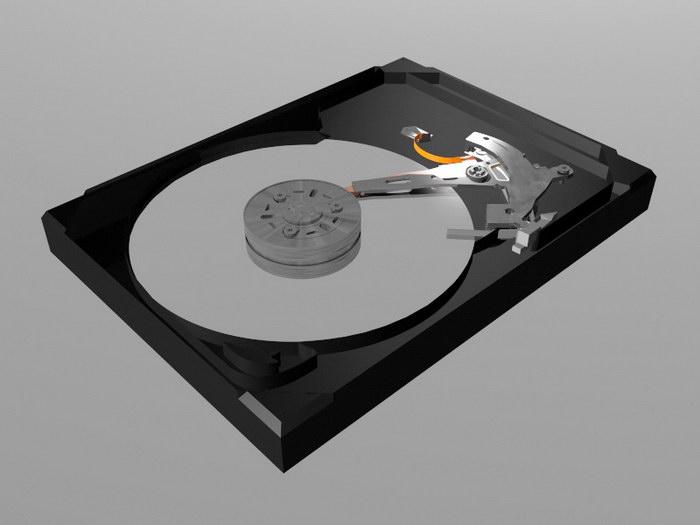 Hard Disk Drive 3d rendering